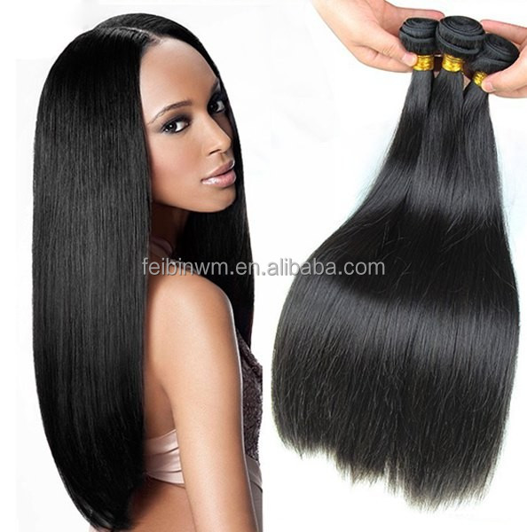 Wholesale unprocessed top quality virgin brazilian human hair extensions straight hair