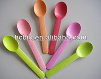 Microwavable Colourful Biodegradable frozen yogurt spoon