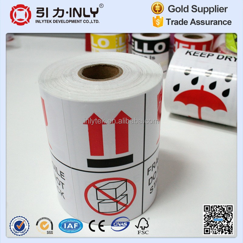 Glossy Art Paper Waterproof Drop Shipping Sticker/Care Label