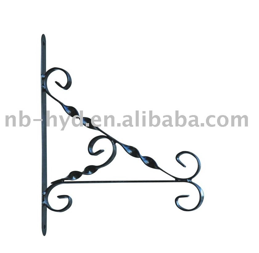 Metal Wall Bracket for outdoor to hanging bird feeder or plants