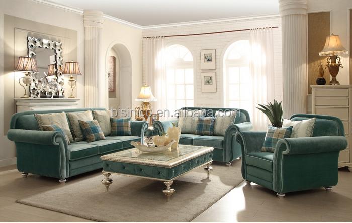 Bisini New Arrival European Style Living Room Sofa Velvet Upholsteried Sofa S