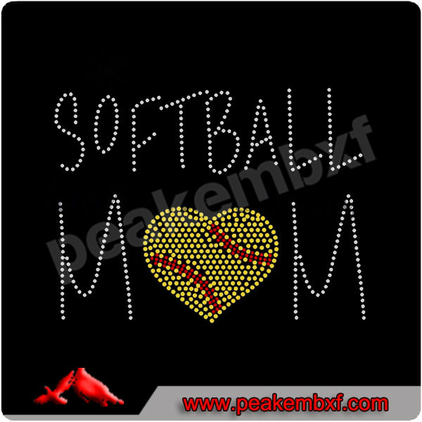 Beautiful rhinestone design templates softball hot fix