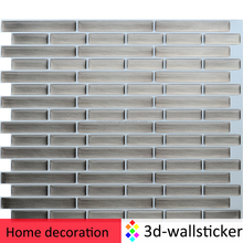 High gloss wall covering decoration peel and stick metal look adhesive vinyl tile