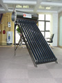 Compact pressurized solar water heater (high efficiency)