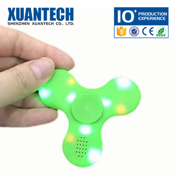 Good Quality wireless and rechargeable fidget spinner, stress reducer, top spinner