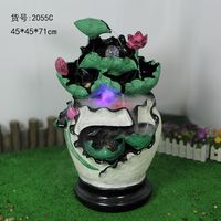45x45x71cm Home Furnishing decorative rockery water fountain Chinese wind lotus pond creative crafts decoration decoration style