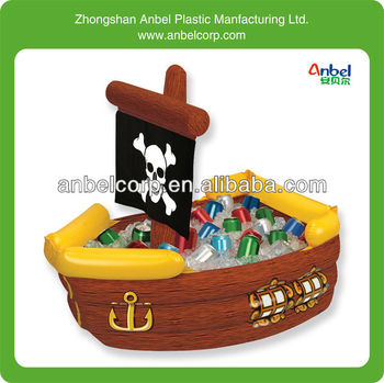 Large Capacity Inflatable Pirate Ship Party Cooler