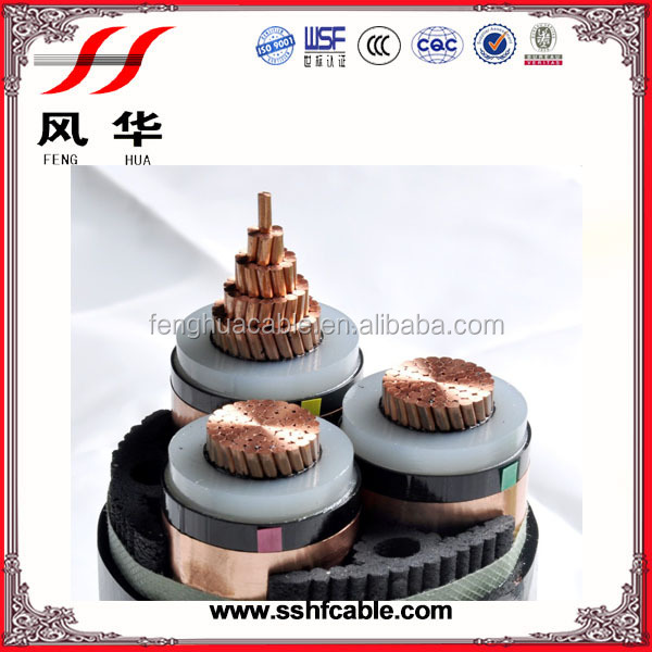 Copper conductor XLPE insulated 11kV 33kV high medium voltage underground power cable price and specifications