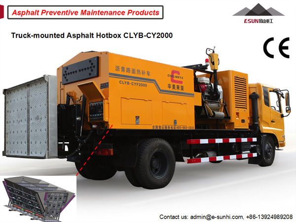 ESUN CLYB-CY2000 truck mounted asphalt hot box for infrared asphalt repair