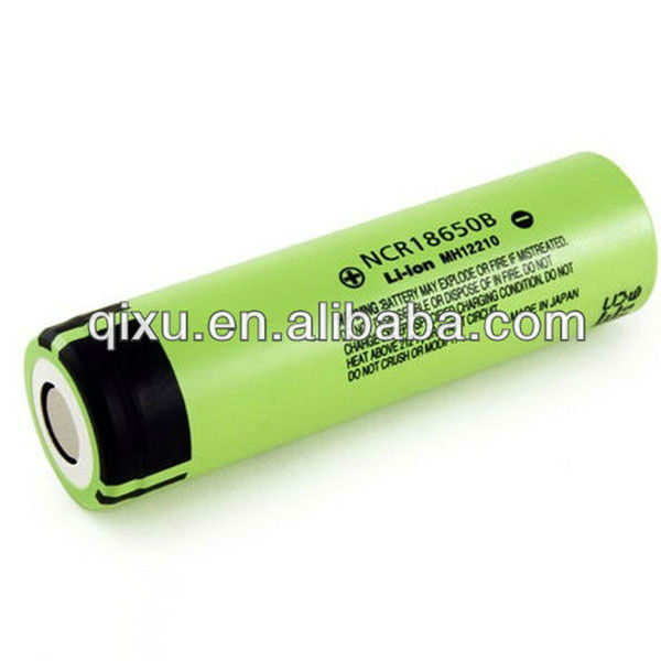 Panasonic 3.7V 3400mAh li-ion battery NCR18650B rechargeable li-ion battery
