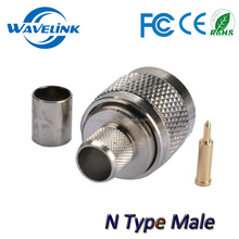 Low Price N Male Plug RF Coaxial Connector Adapter N 5d-fb Cable Connector