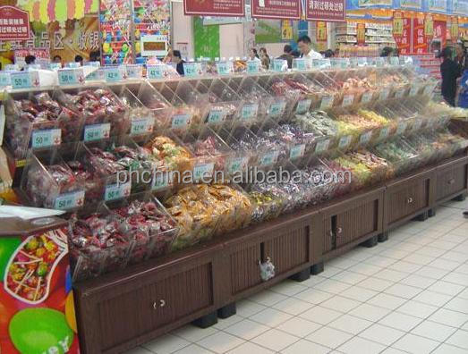 factory wholesale clear acrylic stackable candy bins for shops, market and supermarket