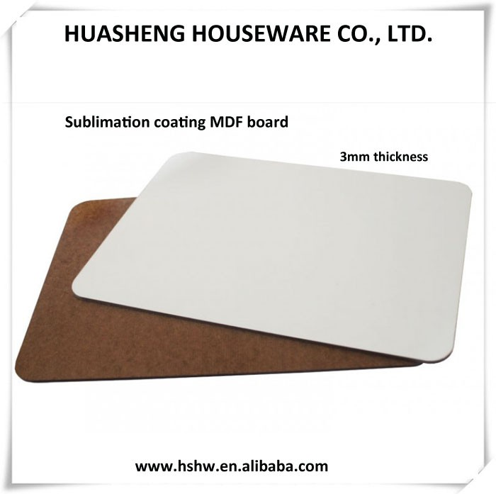 factory supply 3mm white sublimation MDF sheet