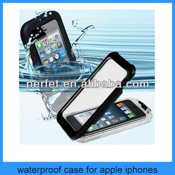 For apple iPhone 4 4s real transparent waterproof case