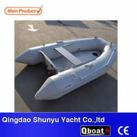 CE 7.5ft 2 persons durable folding inflatable boat for sale