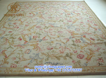 yilong custom size and design handknotted china wool silk savonnerie rug