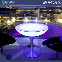RGB color changeable battery rechargeable modern illuminated led coffee table