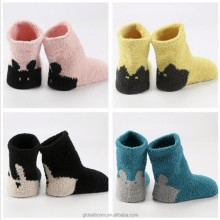 Factory Wholesale Coral Fleece Children Sleeping Socks Plush Baby Thick Winter Socks