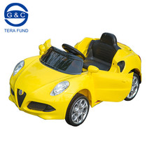 Alfa Romeo licensed 12 volt kids rechargeable battery operated car with swing function