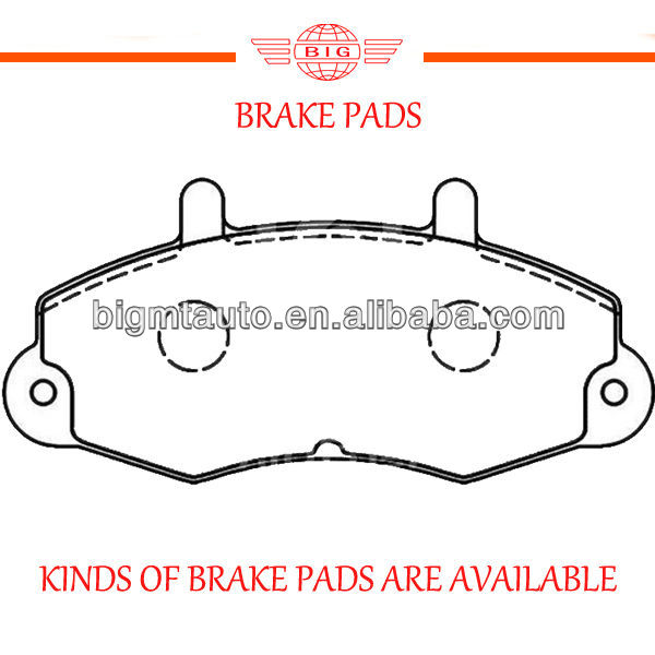 Bendix systemized front axle brake pad set for FORD TRANSIT car