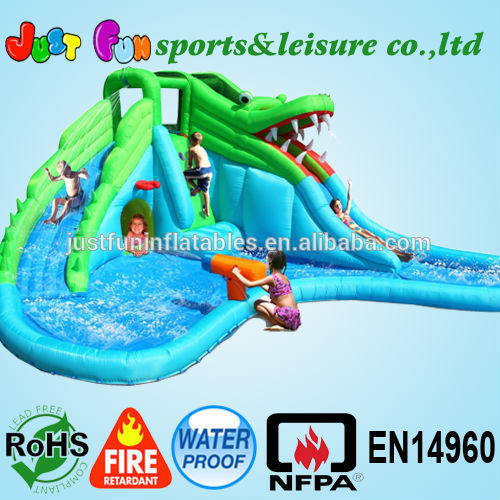 Cheap Inflatable water slide with pool,water slide for home use