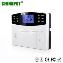 China Market LCD Multi-Language 99 Wireless & 7 Wired Guard Defense Zones gsm home security PST-GA997CQ
