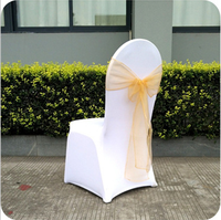 Cheap Gold Organza Chair Sash For Weddings/Banquet