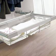 Wardrobe fittings Closet basket Pull out wire basket with soft close slide