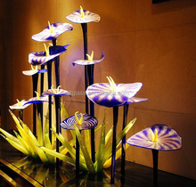 Murano Glass led light Sculpture Glass Flowers Glass Plants Garden Decoration