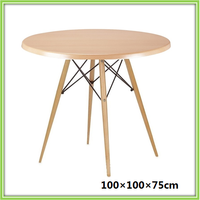 New Design Round Solid Wood Dining Table