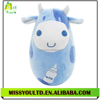 Inflatable Cow Tumbler Baby Toy