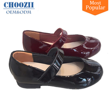 Korean Style Pictures of Kids Girls Patant Leather Belly Dress Shoes