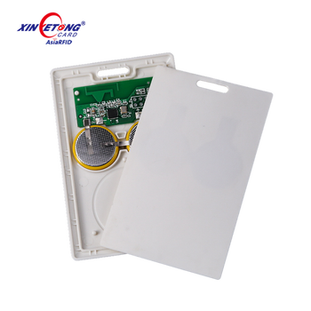 ABS Thick 2.4Ghz Active RFID Card with Passive HF ID Inlay
