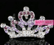 hot sale hair ornament royal doll tiara big pageant crowns