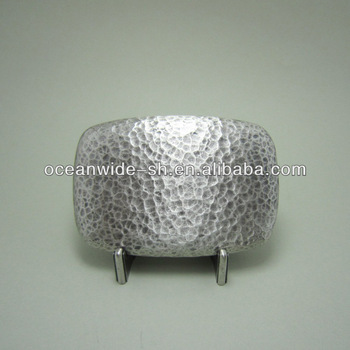 Original Silver Plated 2014 New Hammer Forged Rectangle Belt Buckle For Men BUCKLE-T121SL Brand New In Stock