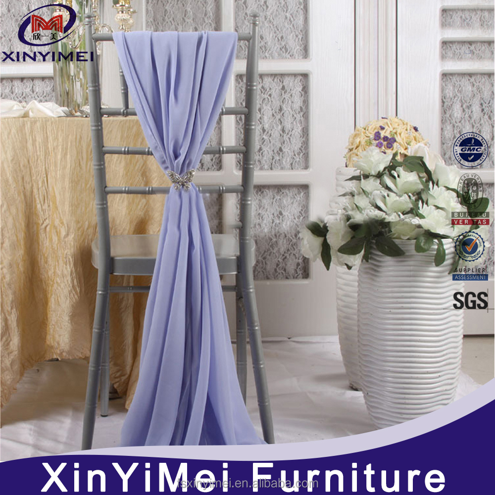 XYM furniture new design cheap white wedding lace chair cover