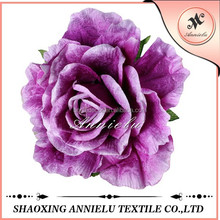 Beautiful purple rubber decoration artificial flower for wedding