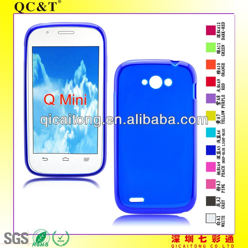 For ZTE BLADE Q MINI Transparent Crystal Clear TPU Case Cover