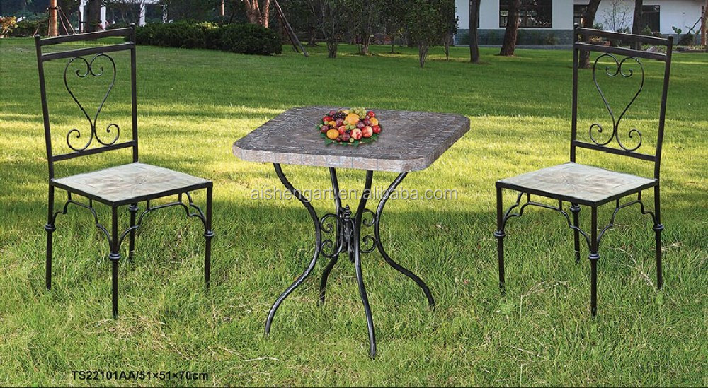 4 Seat Stone Round Garden Dining Set Outdoor table