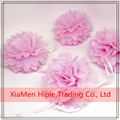 6'' Pink Hanging Tissue Paper Flower Pom Pom Party Garland Decoration