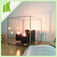 A Classic Romantic Candle holder& glass terrarium , Warm Up The Heart And Room! stained geometric lighting lamps and lanterns