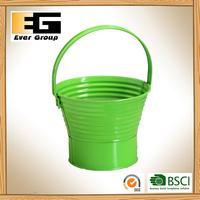 High Green Light Basket Shape Flower Bucket Hanger