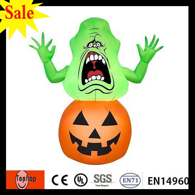 Halloween Pumpkin Inflatable Ghostbusters Yard Decoration In Out Fall