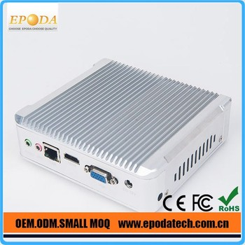 2016 Newest Intel Core i3 High Quality Fanless Mini Industrial PC with LAN RJ45 VGA HDMI and VESA Mount