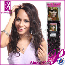 Grade AAA+ Long Virgin Deep Wave Jet Black Brazilian Human Remy Weft Tinsel Hair Extensions