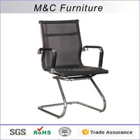 Cool office desk transparant stainless steel chair without wheels