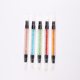 Two Way Hollow Sculpture Manicure Dotting Tools Rhinestone Handle Silicone Head Nail Art Brush Pen