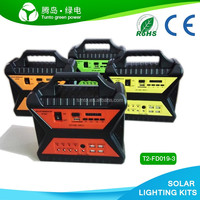 DC battery hub solar charge input power mini station for lighting camping