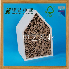 2015 china supplier selling FSC&SA8000 hanging natural outdoor wooden insect bee house for factory wholesale