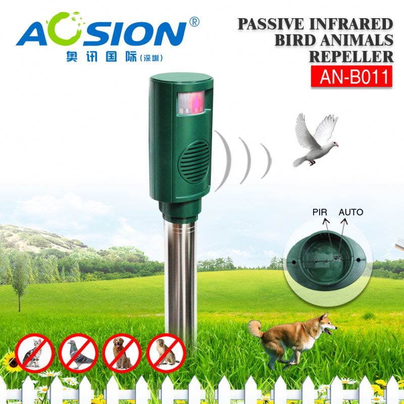 Aosion Automatically PIR Detection Sonic Wave Repel Animal super sonic electronic bird repeller